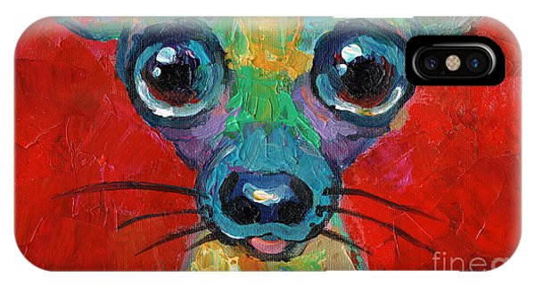 Colorful Pop Art Chihuahua Painting IPhone Case