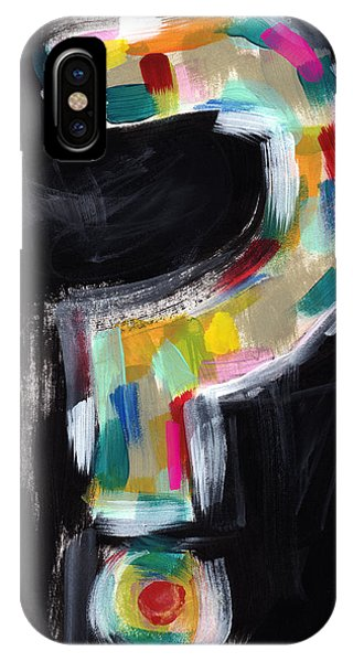 Urban iPhone Case - Colorful Questions- Abstract Painting by Linda Woods