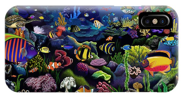 Scuba Diving iPhone Case - Colorful Reef by MGL Meiklejohn Graphics Licensing