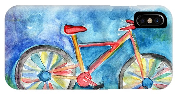 Cycling iPhone Case - Colorful Ride- Bike Art By Linda Woods by Linda Woods