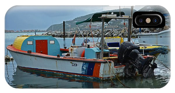Powerboat iPhone Case - Colorful Saint Martin Power Boat Caribbean by Toby McGuire