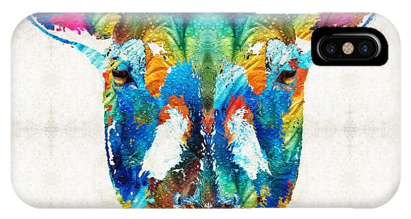 Colorful Sheep Art - Shear Color - By Sharon Cummings IPhone Case