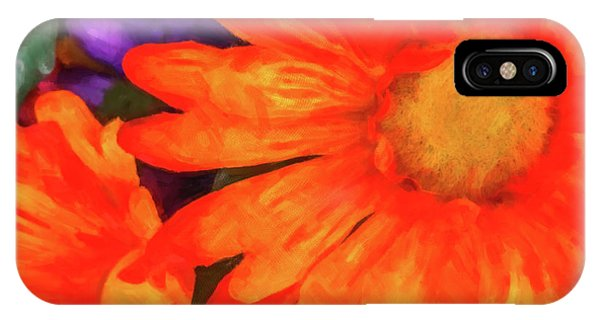 IPhone Case featuring the photograph Colorful Silk Flowers by SR Green