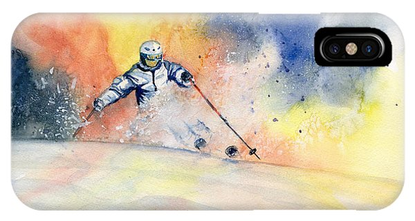 Colorful Skiing Art 2 IPhone Case