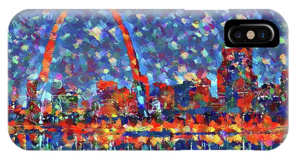Gateway Arch iPhone Case - Colorful St Louis Skyline by Dan Sproul