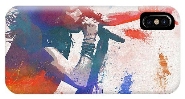 Steven Tyler iPhone Case - Colorful Steven Tyler Paint Splatter by Dan Sproul