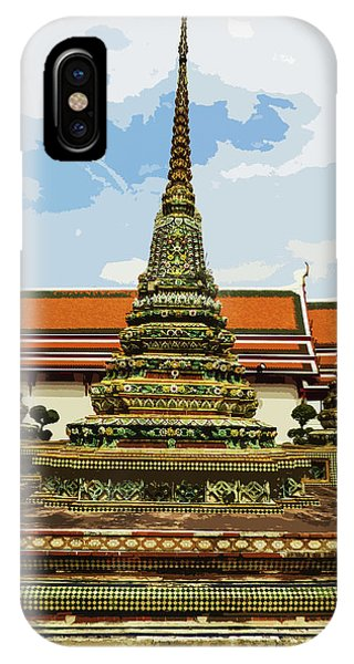 Colorful Stupas At Wat Pho IPhone Case