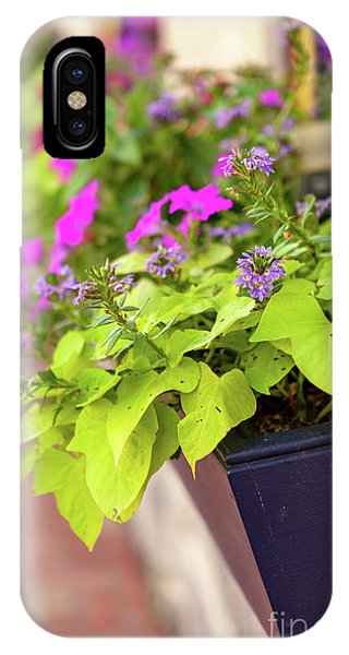Colorful Summer Flowers In Window Box IPhone Case