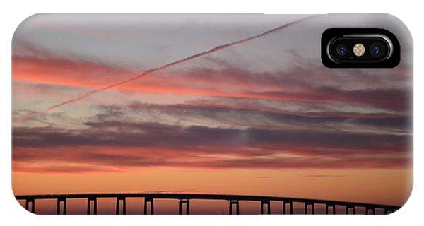 Colorful Sunrise Over Navarre Beach Bridge IPhone Case