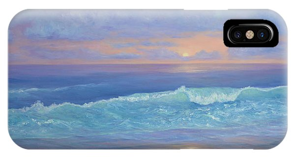Cape Cod Colorful Sunset Seascape Beach Painting With Wave IPhone Case