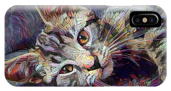 Colorful Tabby Kitten IPhone Case