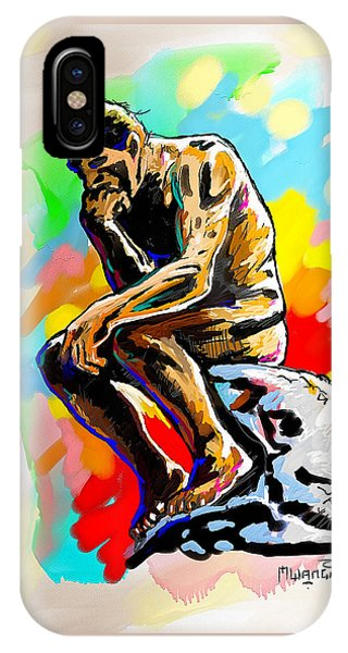 Colorful Thinker IPhone Case