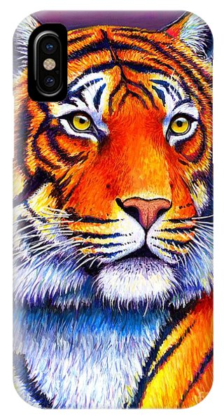 Fiery Beauty - Colorful Bengal Tiger IPhone Case