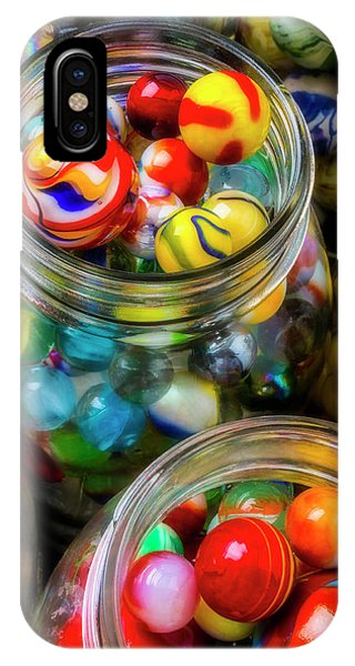 Novelty iPhone Case - Colorful Toy Marbles by Garry Gay