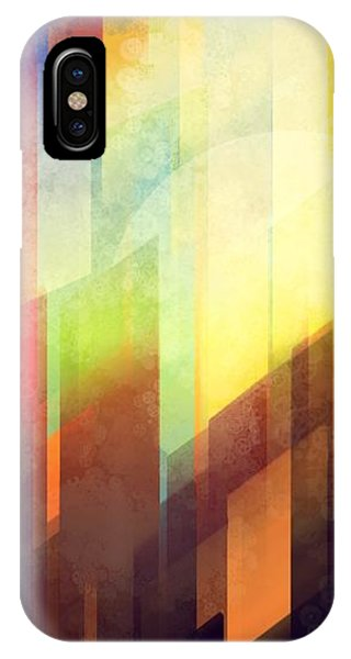 City Sunset iPhone Case - Colorful Urban Design by Thubakabra