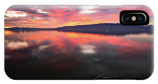 Colorful Utah Lake Sunset IPhone Case