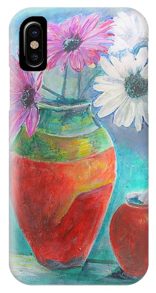 Colorful Vases And Flowers IPhone Case