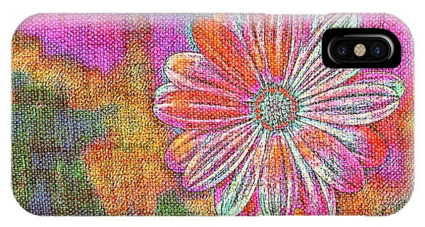 IPhone Case featuring the painting Colorful Watercolor Flower by Lita Kelley