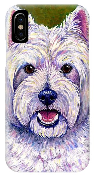 Colorful West Highland White Terrier Dog IPhone Case