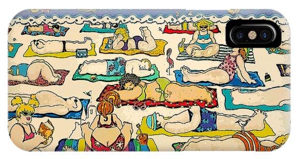 Colorful Whimsical Beach Seashore Women Men IPhone Case