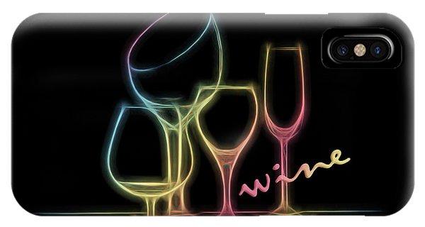 Vino iPhone Case - Colorful Wineglasses by Tom Mc Nemar