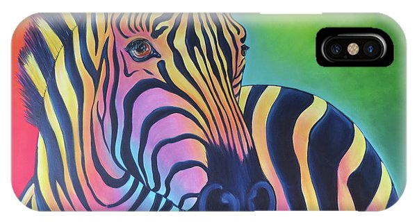 Colorful Zebra IPhone Case