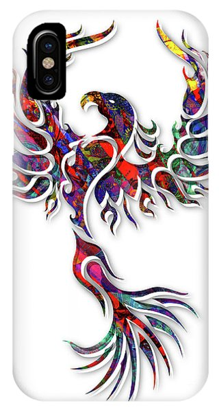 Fire Ball iPhone Case - Colorful Phoenix by Robert Ball