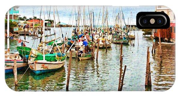 Colors Of Belize - Digital Paint IPhone Case