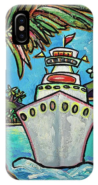 Cruise Ship iPhone Case - Colors Of Cruising by Patti Schermerhorn