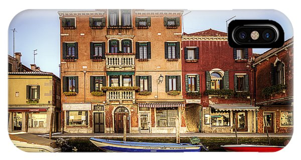 IPhone Case featuring the photograph Colors Of Murano by Ryan Wyckoff
