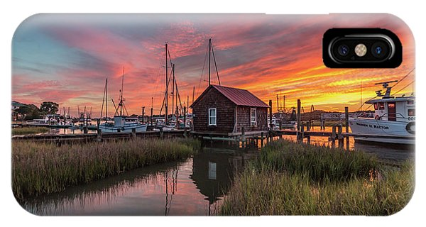 Colors Of Shem Creek - Mt. Pleasant Sc IPhone Case