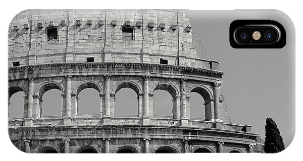 Colosseum Or Coliseum Black And White IPhone Case