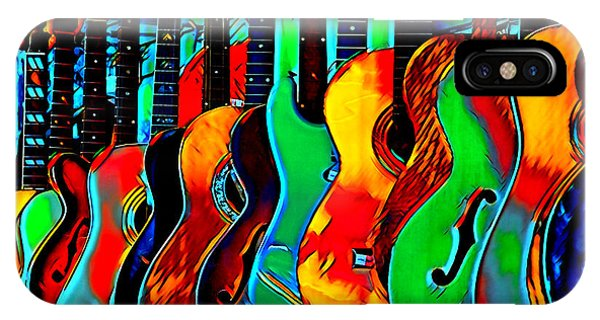IPhone Case featuring the digital art Colour Of Music by Pennie McCracken