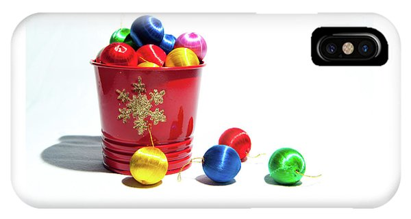Coloured Baubles In A Pot IPhone Case