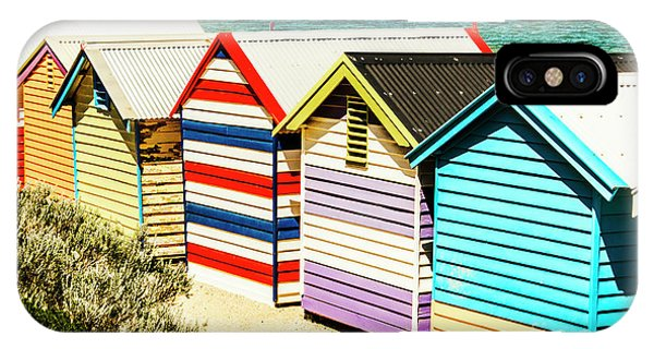 Victoria iPhone Case - Colourful Bathing Sheds by Jorgo Photography - Wall Art Gallery