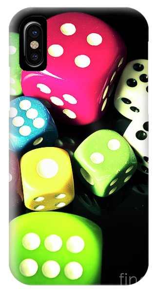 Roll iPhone Case - Colourful Casino Dice  by Jorgo Photography - Wall Art Gallery