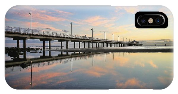 Colourful Cloud Reflections At The Pier IPhone Case