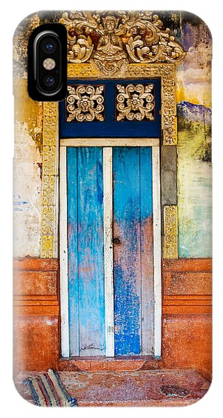 Cambodia iPhone Case - Colourful Door by Dave Bowman