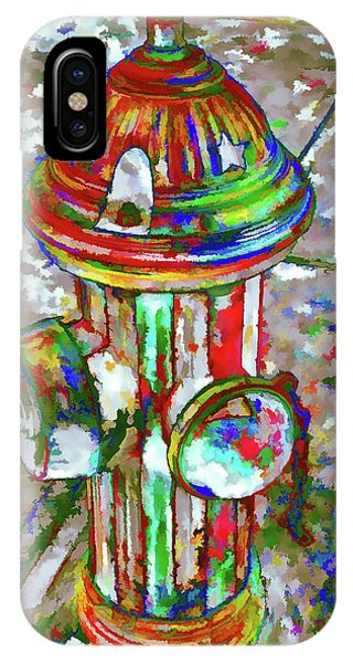 Colourful Hydrant IPhone Case