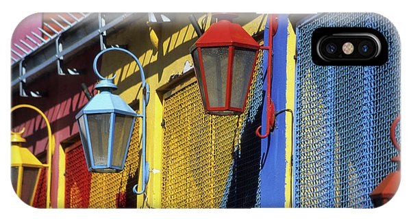 Colourful Lamps La Boca Buenos Aires IPhone Case