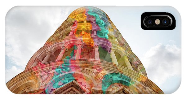 IPhone Case featuring the mixed media Colourful Leaning Tower Of Pisa by Clare Bambers