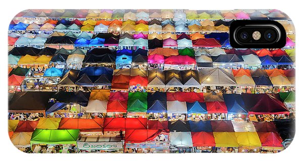 Colourful Night Market IPhone Case