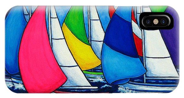 Colourful Regatta IPhone Case
