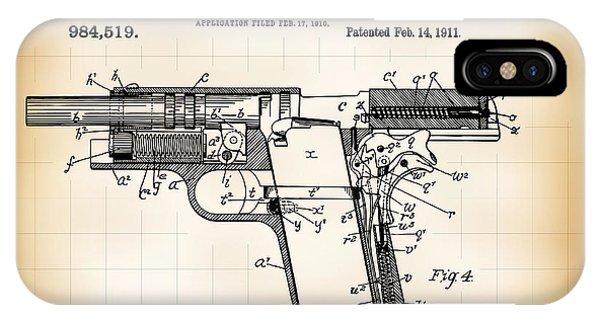 Colt 1911 Iphone Cases Fine Art America