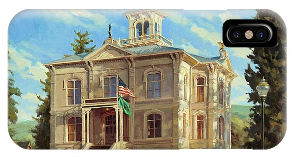 Courthouse iPhone Case - Columbia County Courthouse by Steve Henderson