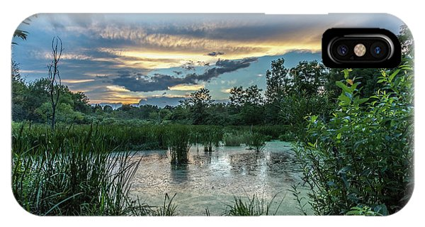 Columbia Marsh Sunset IPhone Case