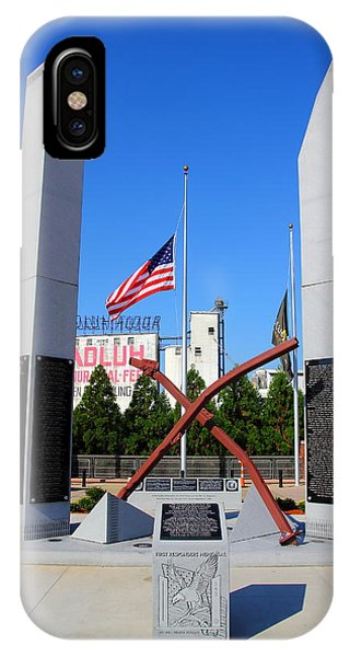 IPhone Case featuring the photograph Columbia, Sc First Responders Memorial by Joseph C Hinson Photography