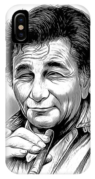 Mixed-media iPhone Case - Columbo by Greg Joens