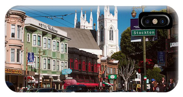 Columbus And Stockton In North Beach IPhone Case