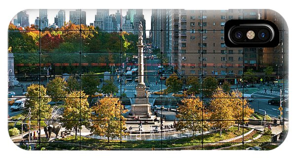 Assisted Living iPhone Case - Columbus Circle by S Paul Sahm